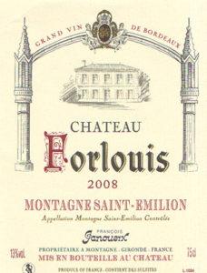 Forlouis - Montagne Saint-Émilion- Vin médaillé