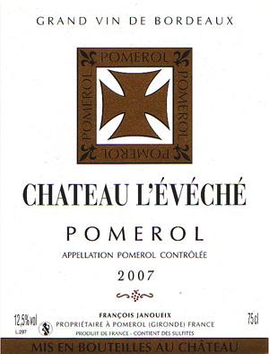 Château L'Évêché – Pomerol