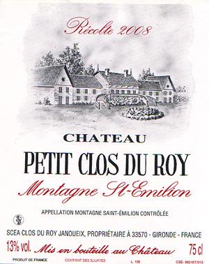Château Petit Clos du Roy - Montagne Saint-Émilion